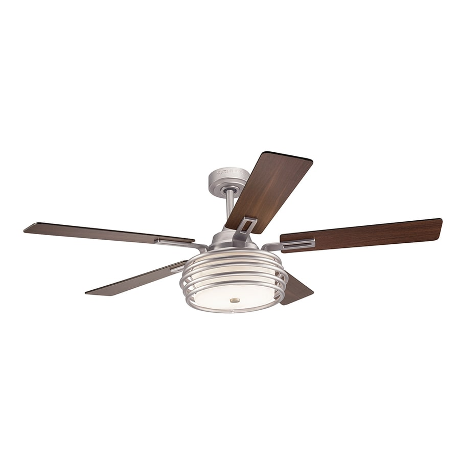 Kichler Bands 52 In Brushed Nickel Indoor Downrod Mount Ceiling Fan With Light Kit And