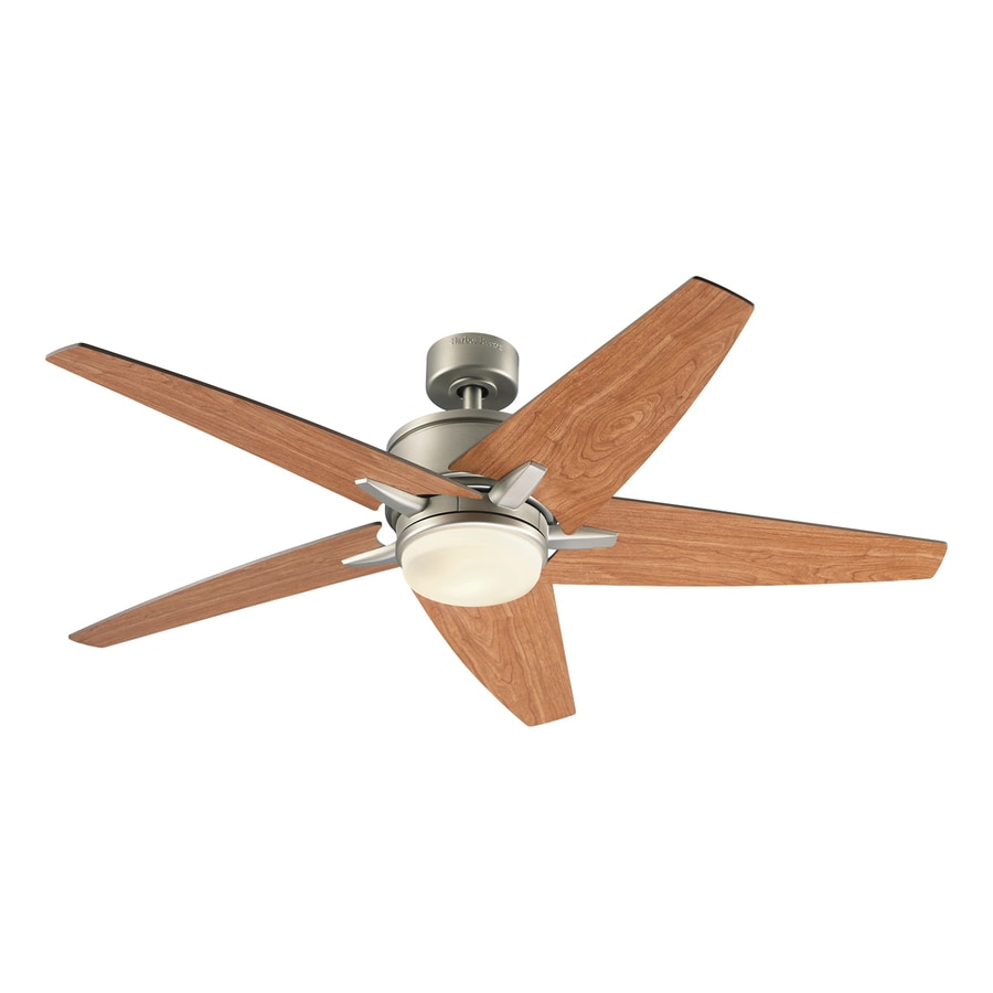 Kichler Trestle Ridge 52-in Nickel Indoor Downrod Mount Ceiling Fan with Light Kit and Remote