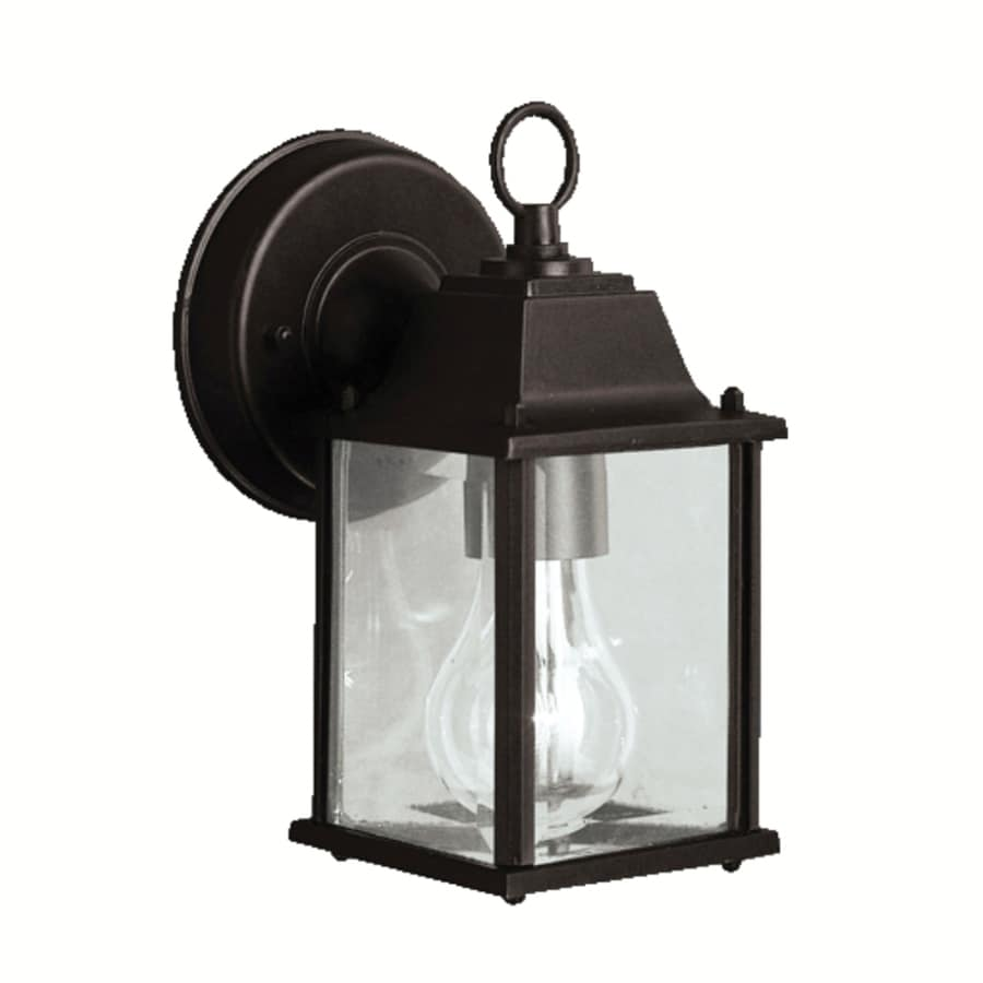 Portfolio Barrie 8.5-in H Black Outdoor Wall Light