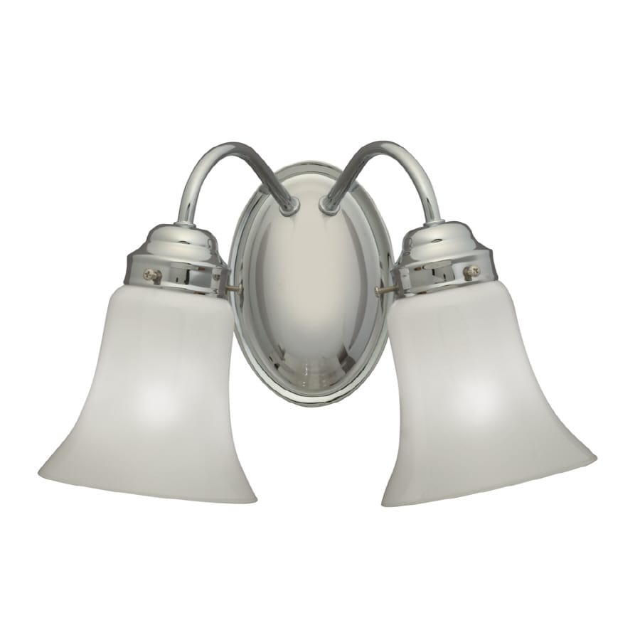 Portfolio 13-1/2-in W 2-Light Chrome Arm Wall Sconce