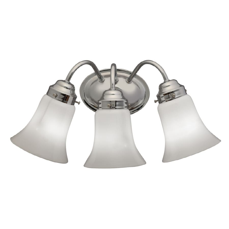 bathroom vanity light shop portfolio 3 light chrome bathroom vanity light at 11915