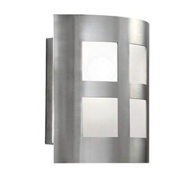Merveilleux Portfolio 6.5 In W 1 Light Satin Nickel Pocket Wall Sconce