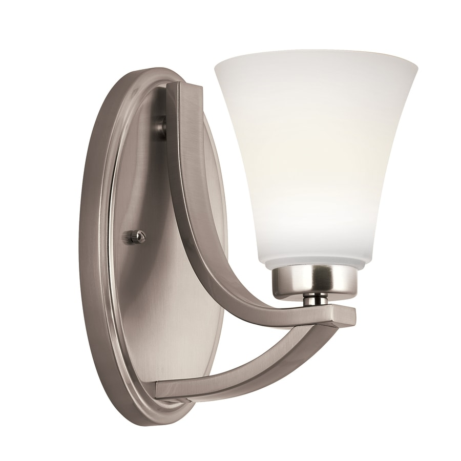 Portfolio Lyndsay 1-Light Satin Nickel Bell Vanity Light