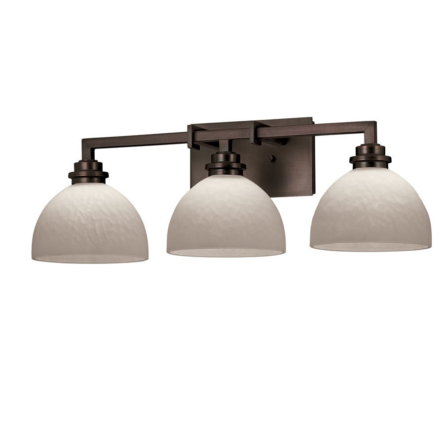 Portfolio 3-Light Light Oil-Rubbed Bronze Bathroom Vanity Light