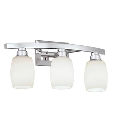 Allen Roth 3 Light Chrome Modern Contemporary Vanity Light In The Vanity Lights Department At Lowes Com