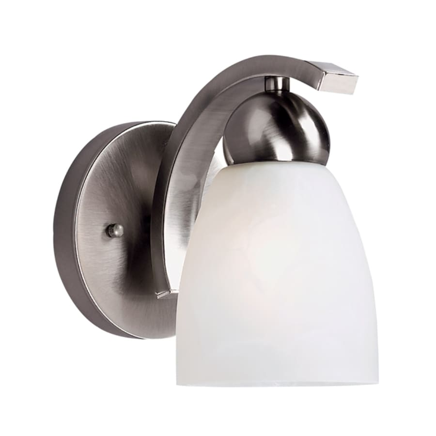 Portfolio Paces 1-Light Brushed Nickel Bell Vanity Light