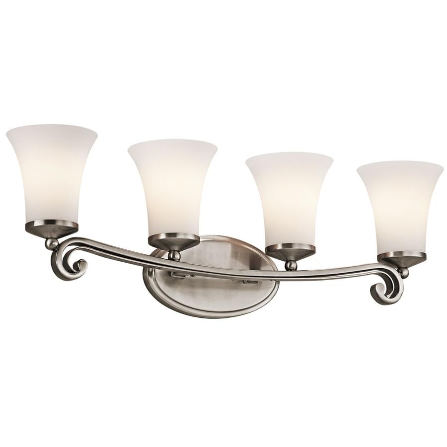 Wickham 4-Light 9.5-in Classic Pewter Bell Vanity Light