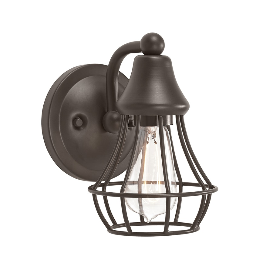 kichler bathroom lighting shop kichler bayley 1 light 7 75 in olde bronze cage 13301