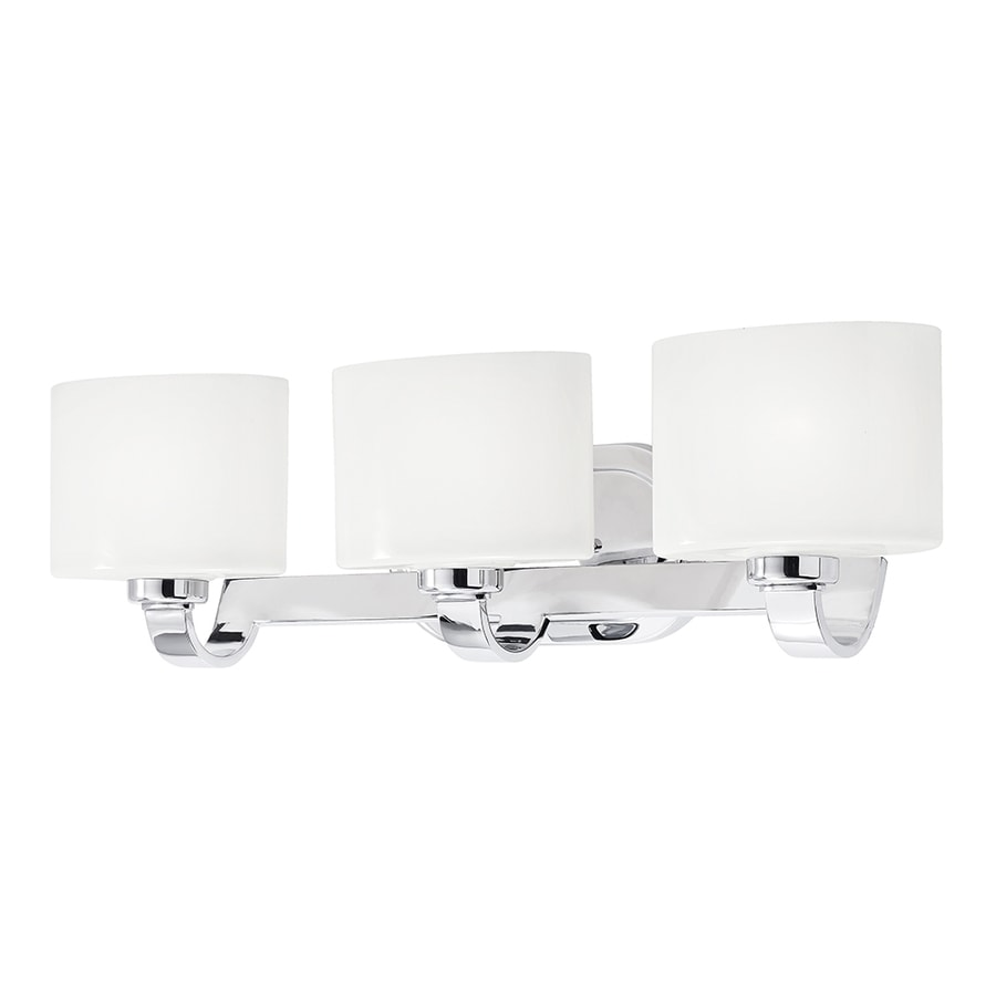 Shop vanity lights at lowes kichler 3 light 2343 in chrome oval vanity light aloadofball