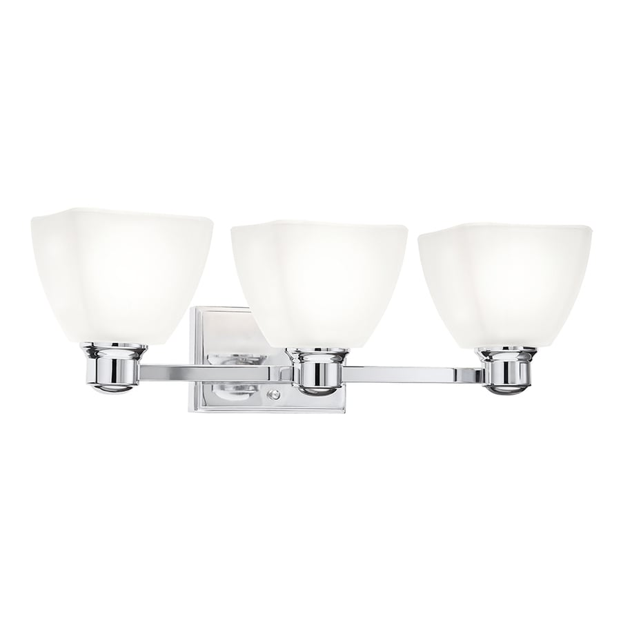 Kichler Vanity Lights Lowes : Shop Kichler Bryant 3-Light 7.05-in Chrome Square Vanity Light at Lowes.com