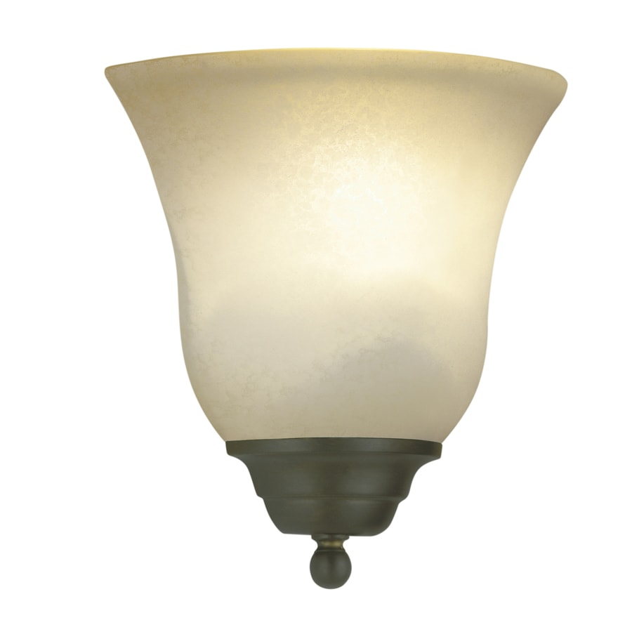 Lowes Electric Wall Sconces : Shop Portfolio Linkhorn 8.66-in W 1-Light Aged Bronze Pocket Wall Sconce at Lowes.com