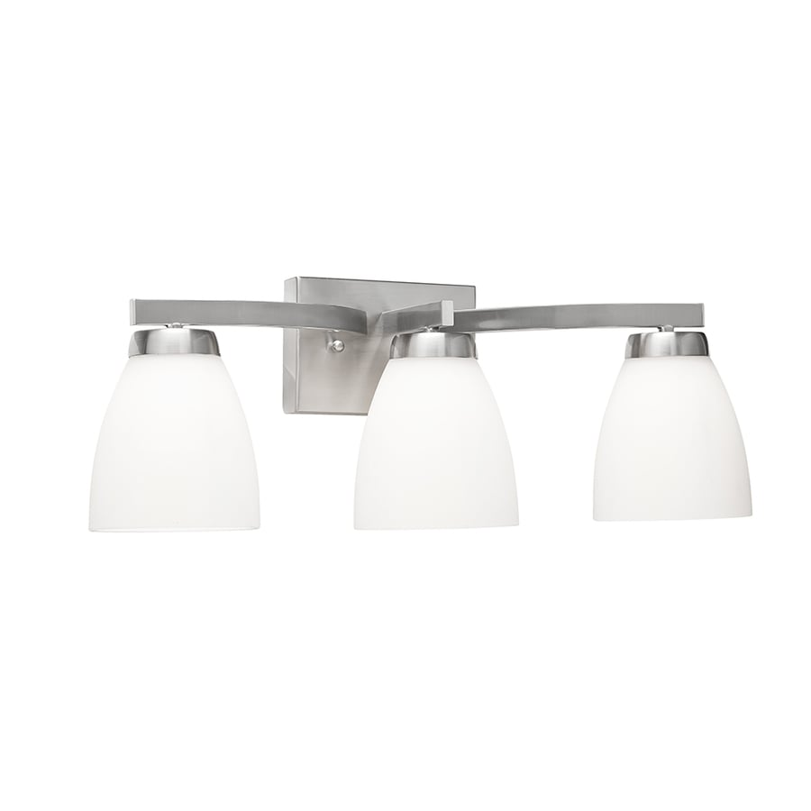 Shop Kichler 3 Light Satin Nickel Cone Led Vanity Light At