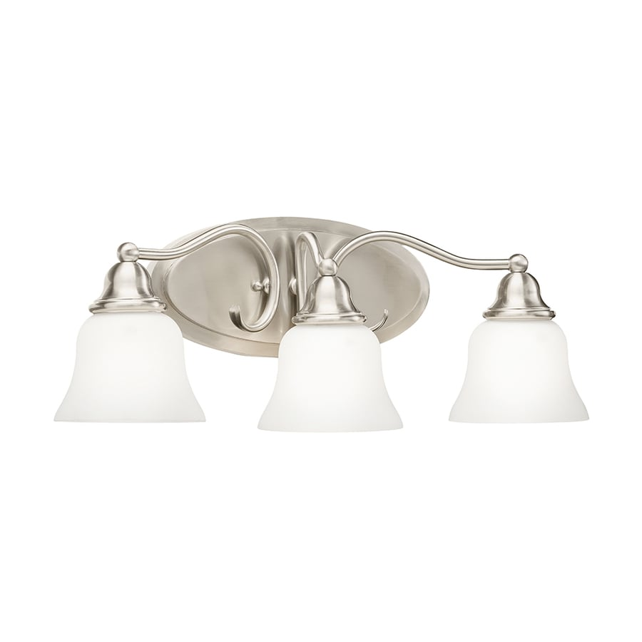 Shop Kichler 3 Light Satin Nickel Bell Led Vanity Light At