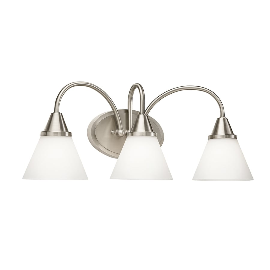 Kichler Lighting 3-Light 9.45-in Satin Nickel Cone Integrated LED Vanity Light