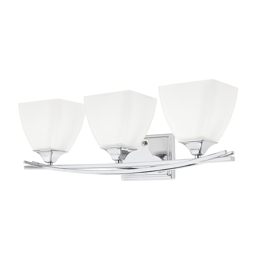 Kichler 3-Light 7.3-in Chrome Rectangle Vanity Light