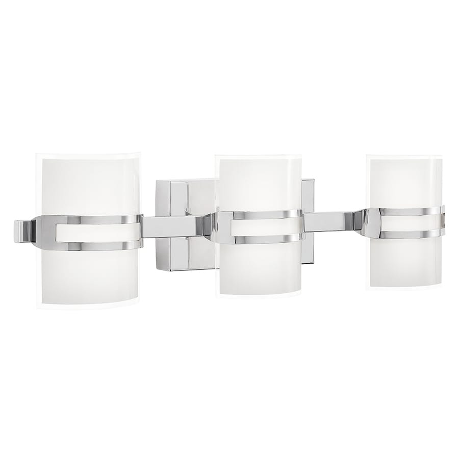 Shop kichler deauville 3 light 2531 in chrome rectangle led vanity kichler deauville 3 light 2531 in chrome rectangle led vanity light aloadofball Images