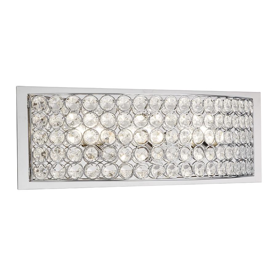 Kichler Lighting Krystal Ice 3-Light Chrome Rectangle Vanity Light