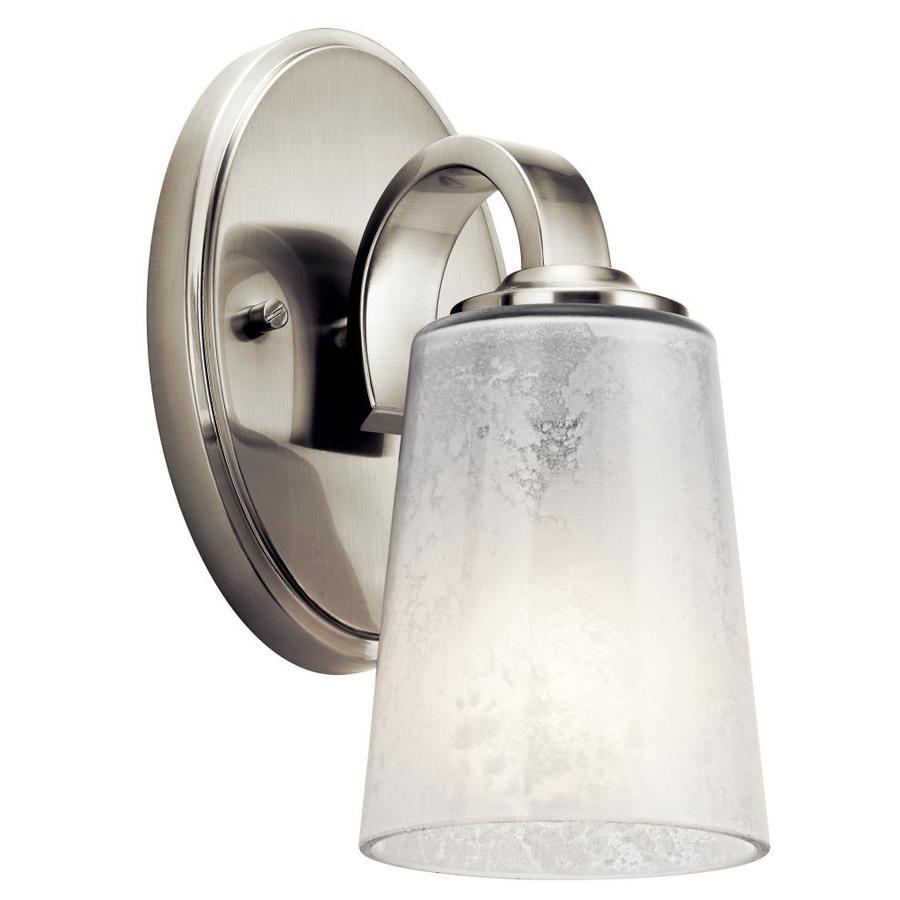 Kichler 1-Light 9.25-in Brushed nickel Cylinder Vanity Light