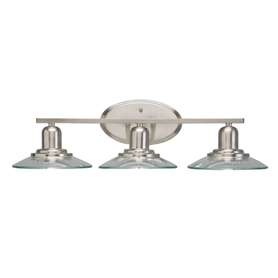 Kichler Galileo 3-Light 7.25-in Brushed nickel Cone Vanity Light