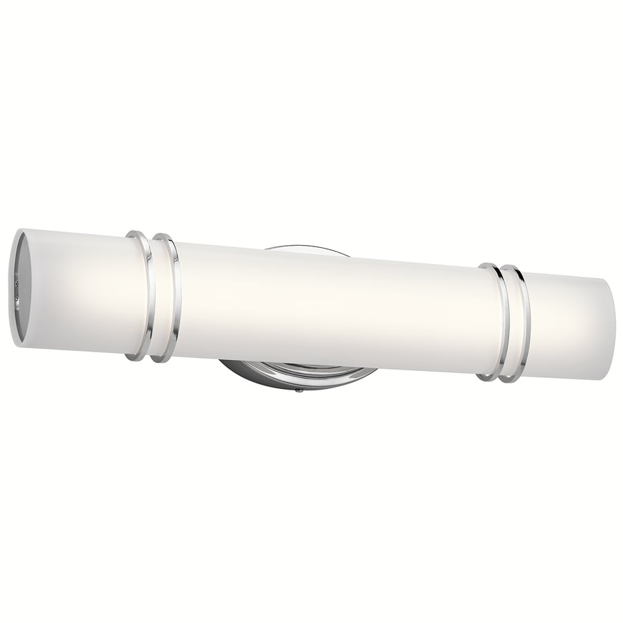 Shop vanity lights at lowes kichler ebson 1 light 2402 in chrome cylinder led vanity light aloadofball Choice Image