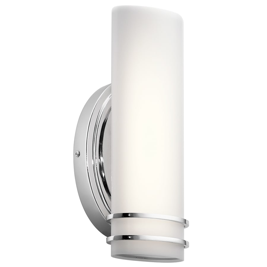 Kichler Ebson 1-Light 12.01-in Chrome Cylinder LED Vanity Light