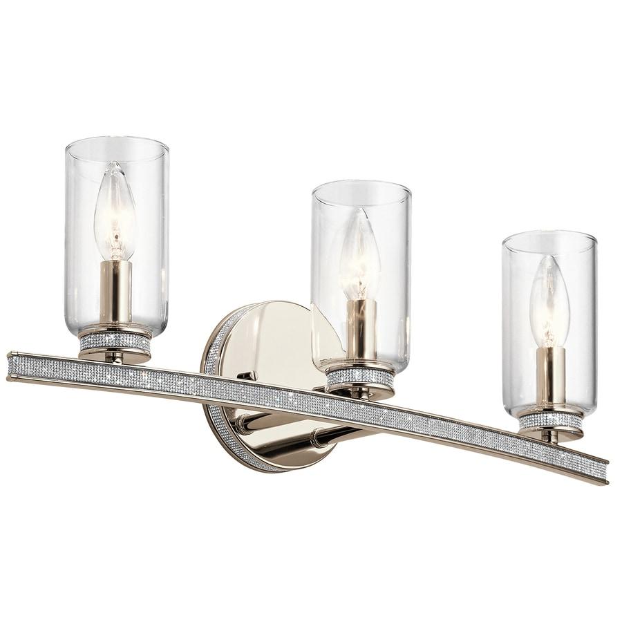 Kichler Angelica 3-Light 7.55-in Polished Nickel Cylinder Vanity Light
