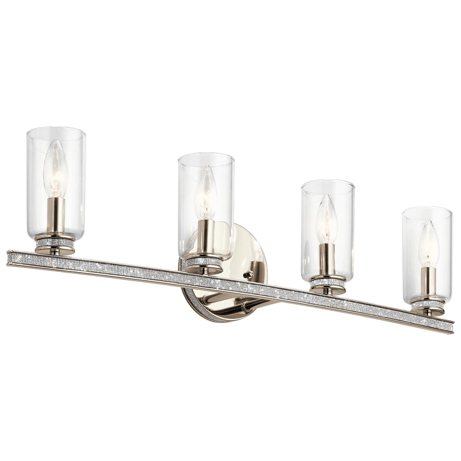 Vanity Lights Not Hardwired : Shop Kichler Angelica 4-Light 7.55-in Polished Nickel Cylinder Vanity Light at Lowes.com