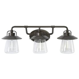 Shop allen roth vanity lights at lowes allen roth bristow 3 light 24 in specialty bronze cone vanity light aloadofball Images