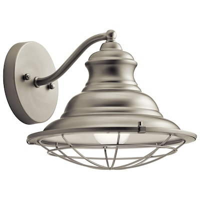 Clarkson 10 In W 1 Light Brushed Nickel Rustic Wall Sconce