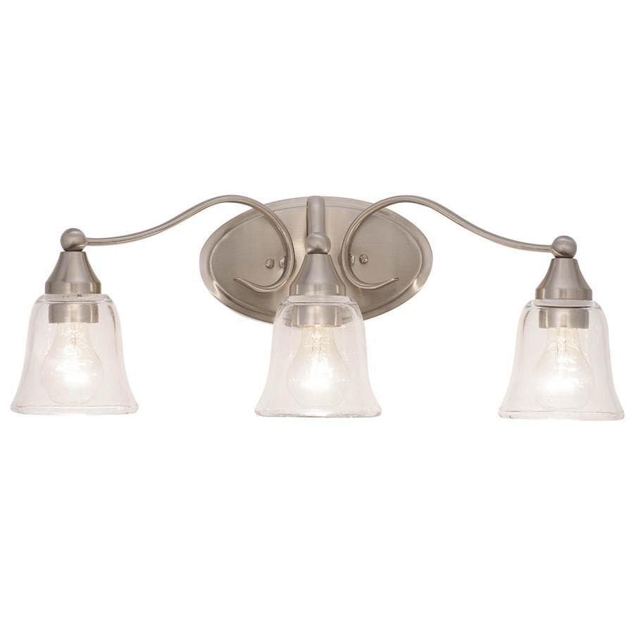 Kichler Hamden 3-Light 8.45-in Brushed nickel Bell Vanity Light Bar