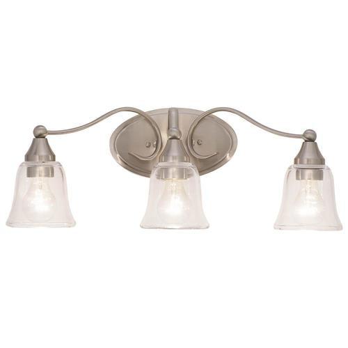 Kichler Hamden 3 Light Nickel Traditional Vanity Light Bar In The Vanity Lights Department At Lowes Com