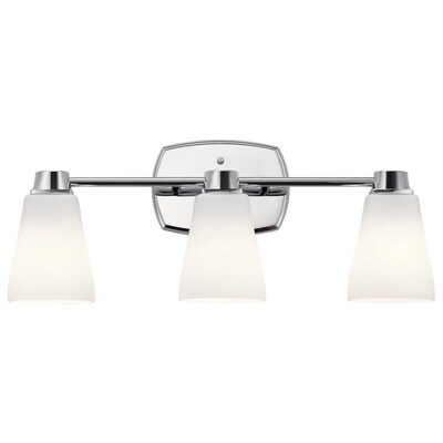 Delta Sandover 3 Light Chrome Traditional Vanity At