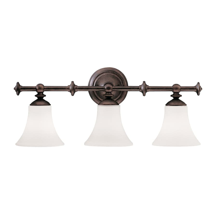 Kichler Vanity Lights Lowes : Shop Kichler Hamden 3-Light Olde Auburn Bell Vanity Light at Lowes.com