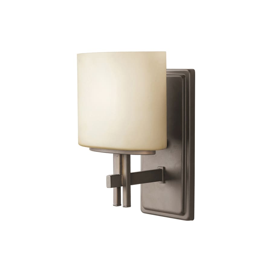 Portfolio Delavan 7-in W 1-Light Olde Bronze Arm Hardwired Wall Sconce