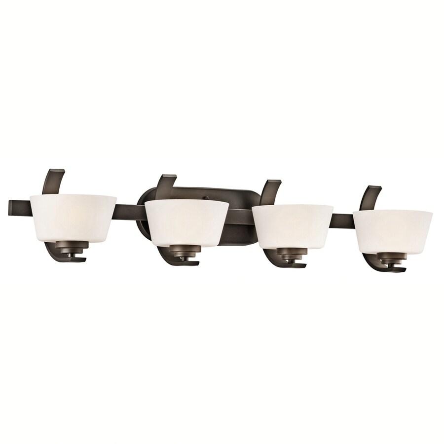 Portfolio Rise 4-Light 7.25-in Olde Bronze Bowl Vanity Light