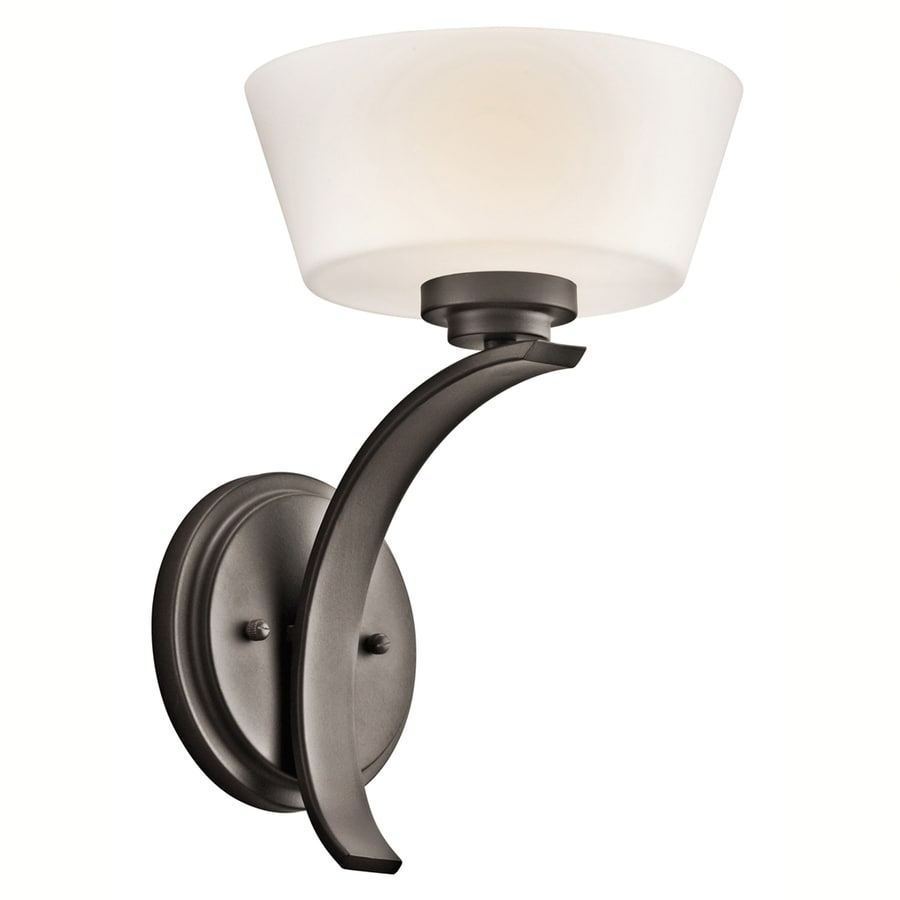 Portfolio Rise 8-in W 1-Light Olde Bronze Arm Wall Sconce