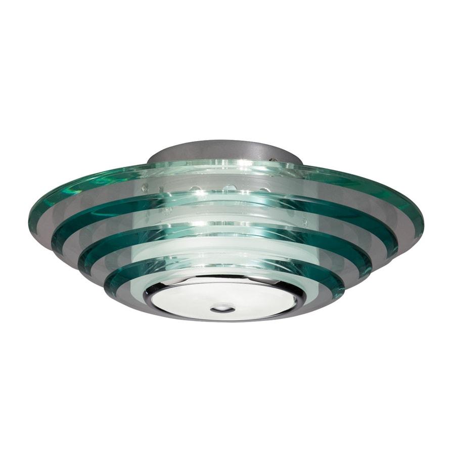 allen + roth 11.81-in W Chrome Ceiling Flush Mount Light