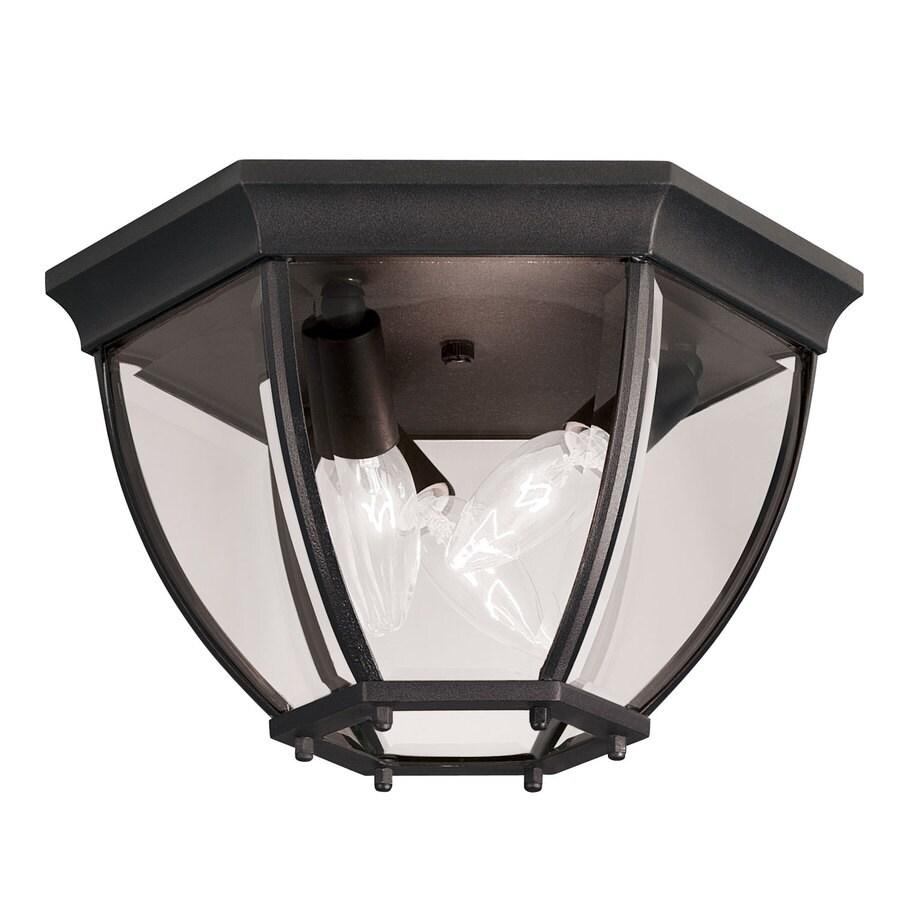 Portfolio 11.9-in W Black Ceiling Flush Mount