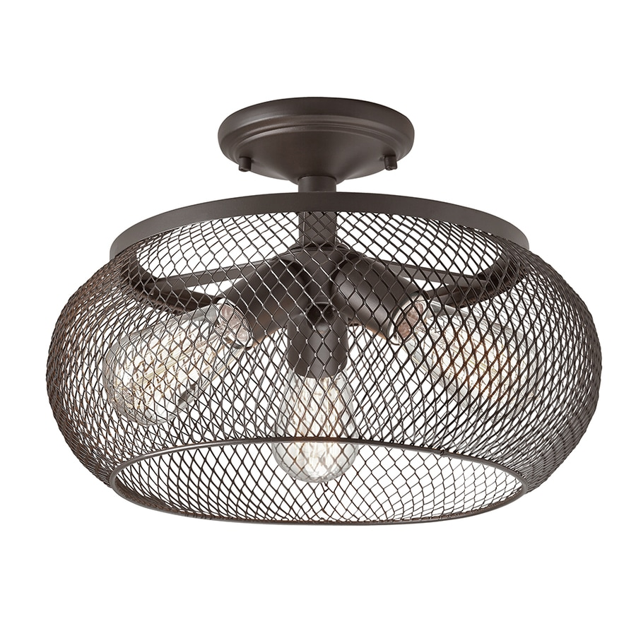w olde bronze metal semi flush mount light at