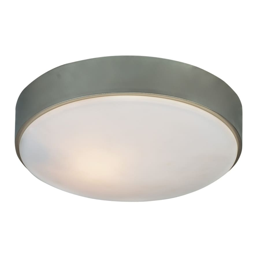 Kichler 10.98-in W Brushed Nickel Flush Mount Light