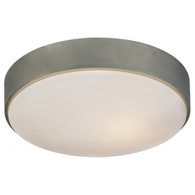 Kichler 14-in Brushed Nickel Modern/Contemporary integrated Led Flush Mount Light