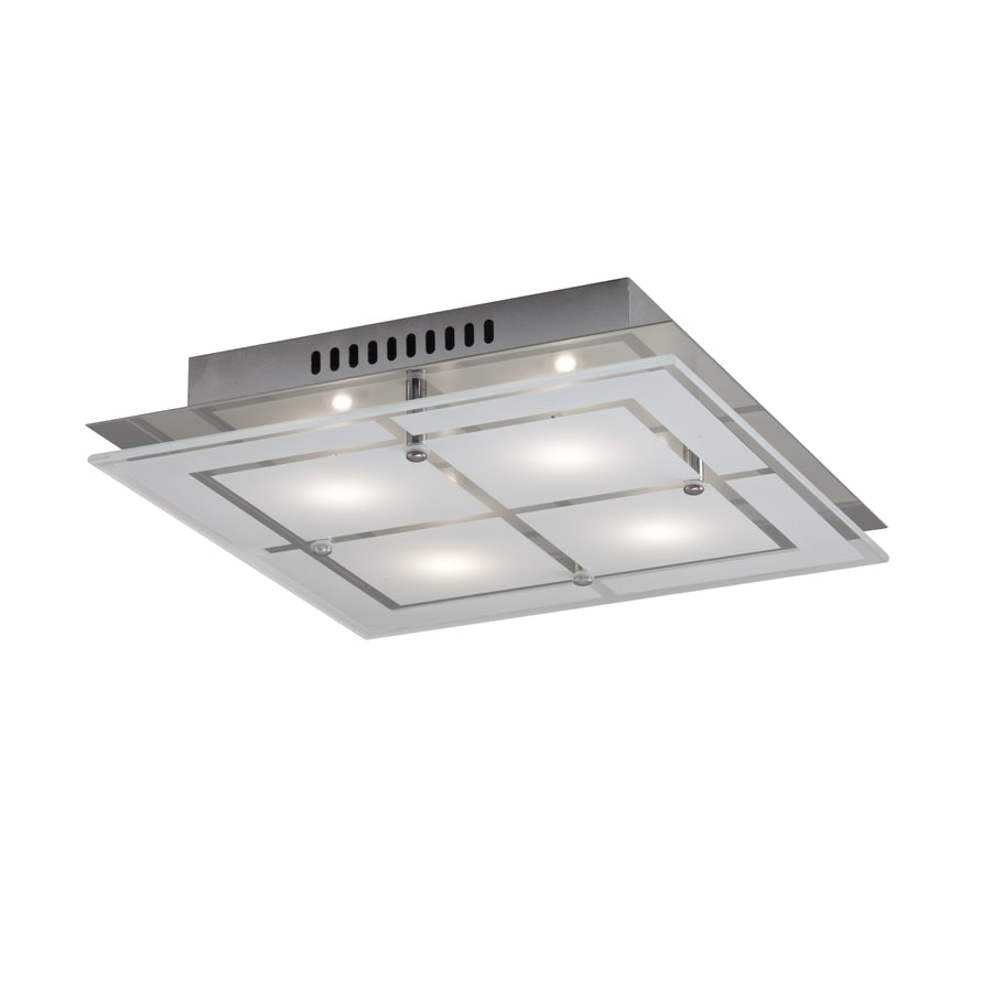 shop kichler w chrome led flush mount light at