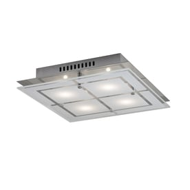 Flush Mount Ceiling Lights Led: Kichler Lighting 11.81-in W Chrome LED Led Flush Mount Light,Lighting