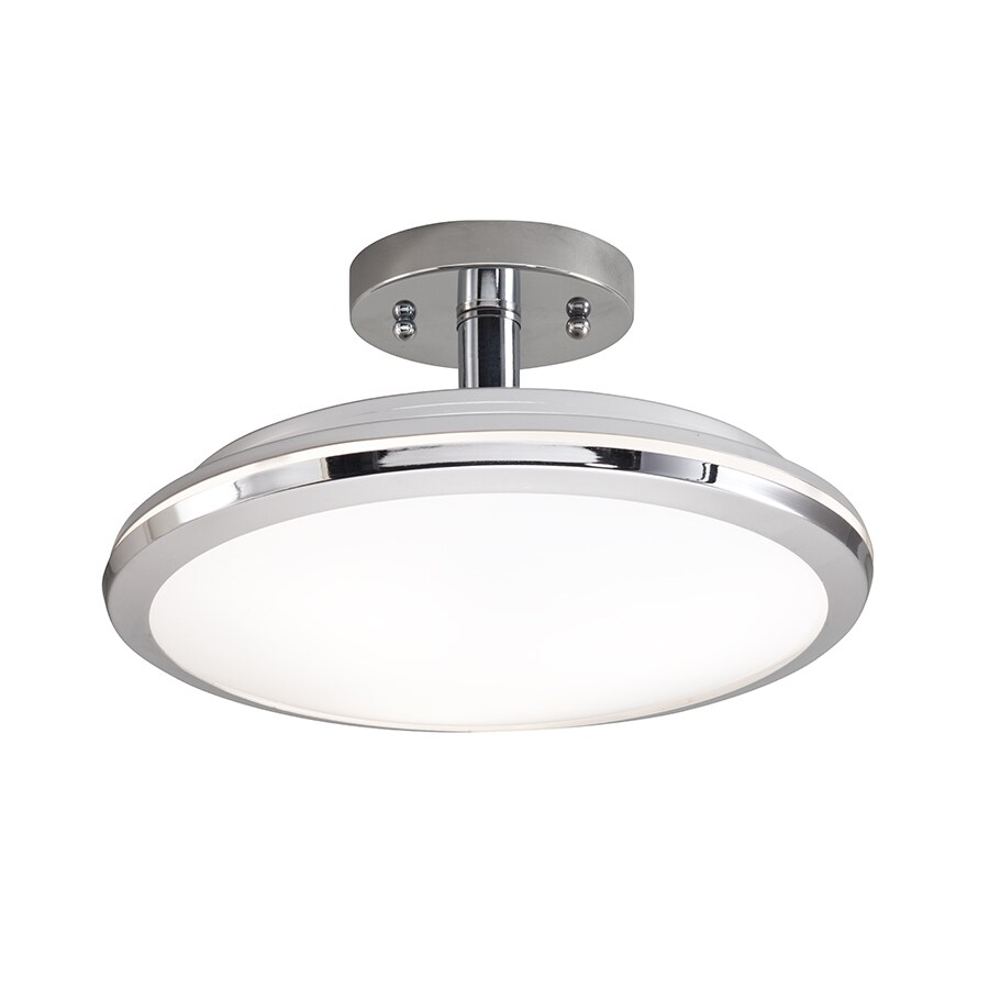Kichler Lighting 11.89-in W Chrome Clear Glass Semi-Flush Mount Light