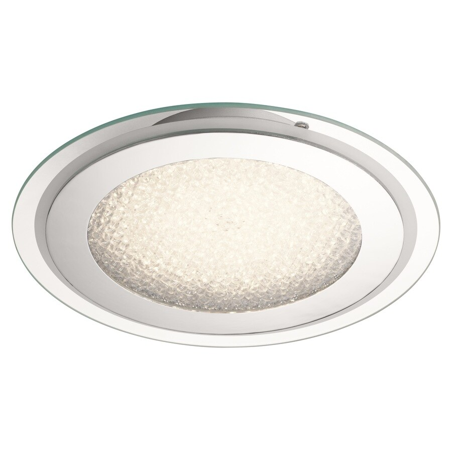 Kichler 14.25-in W Chrome LED Flush Mount Light
