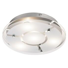 Kichler 12-in Chrome Modern/Contemporary integrated Led Flush Mount Light