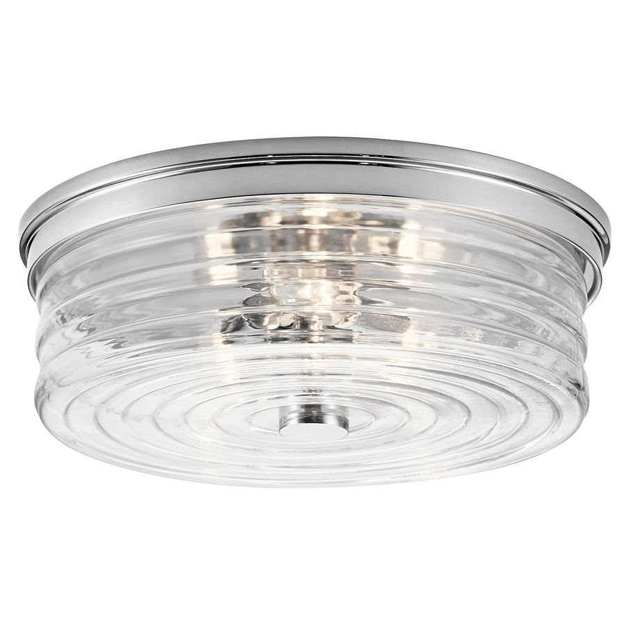 Kichler 13.5-in W Chrome Flush Mount Light