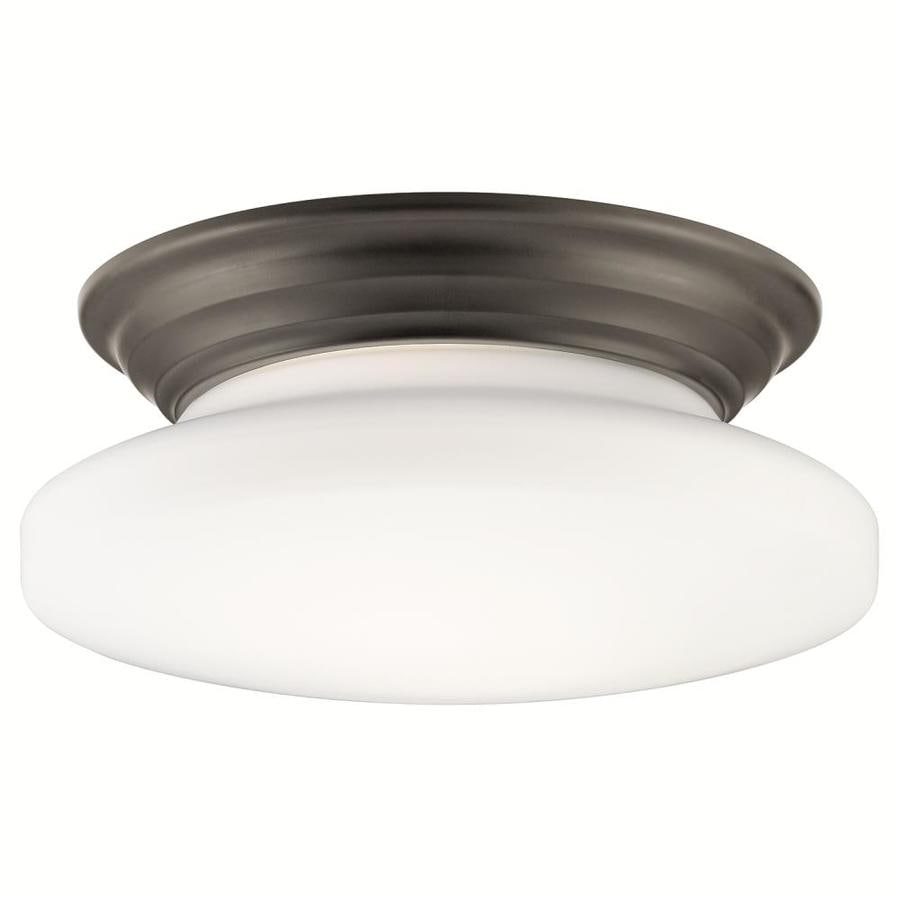 Kichler 14-in W Olde bronze Flush Mount Light