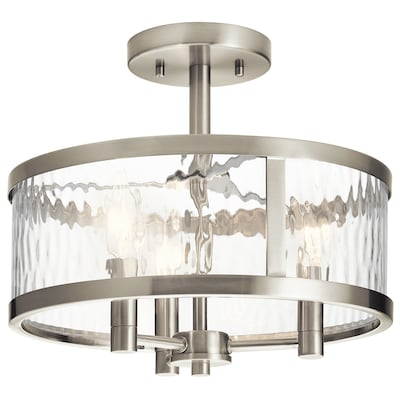 Marita 13 In Brushed Nickel Transitional Incandescent Semi Flush Mount Light
