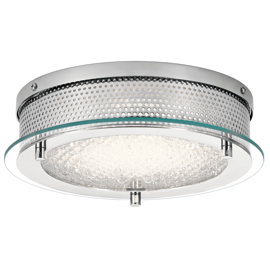 Kichler 7.38-in W Chrome LED Flush Mount Light